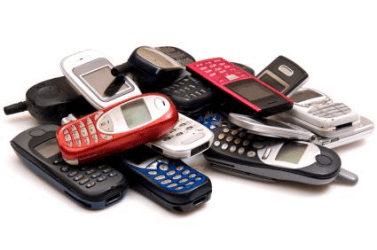 Pile of old phones