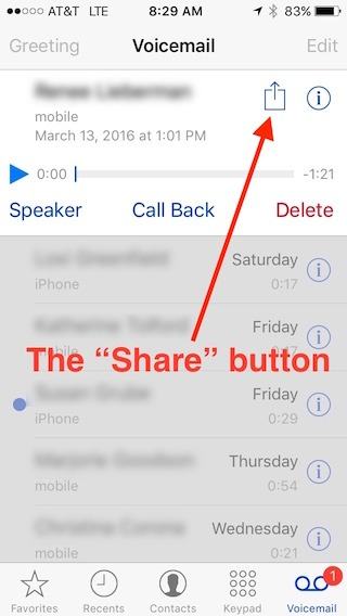 How To Forward A Voicemail Message From Your IPhone