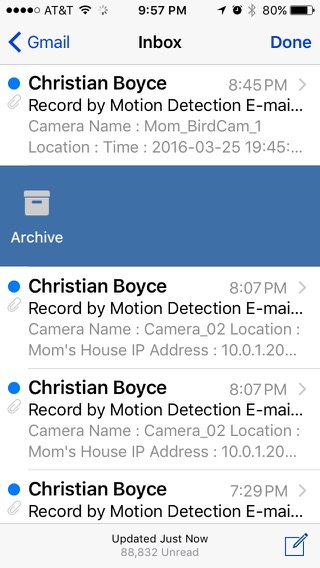 Gmail account on iPhone shows Archive option instead of Trash by default