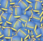 Blue and Gold footballs