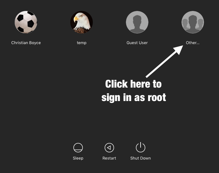 "Mac login screen with ""Other..."""