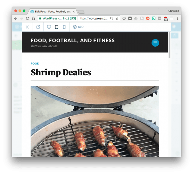 WordPress categorized blog post