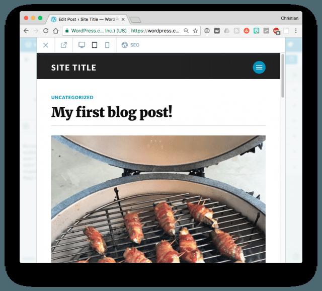 WordPress previewing blog post