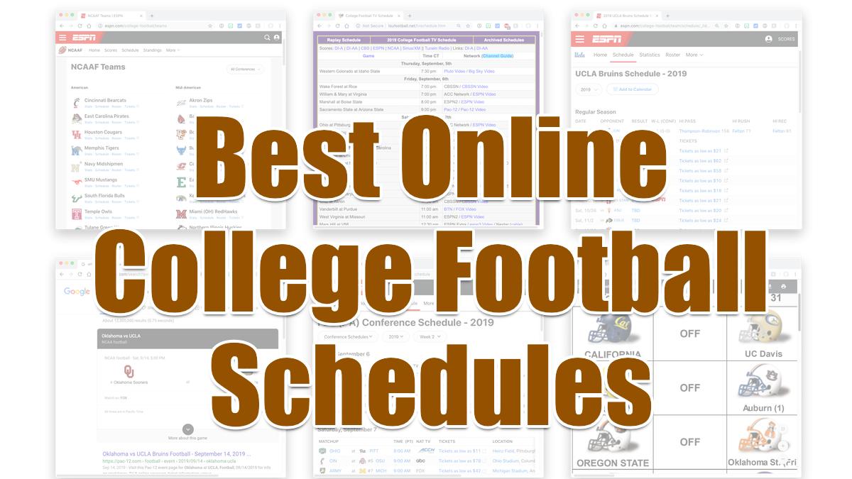 Best online college football schedules