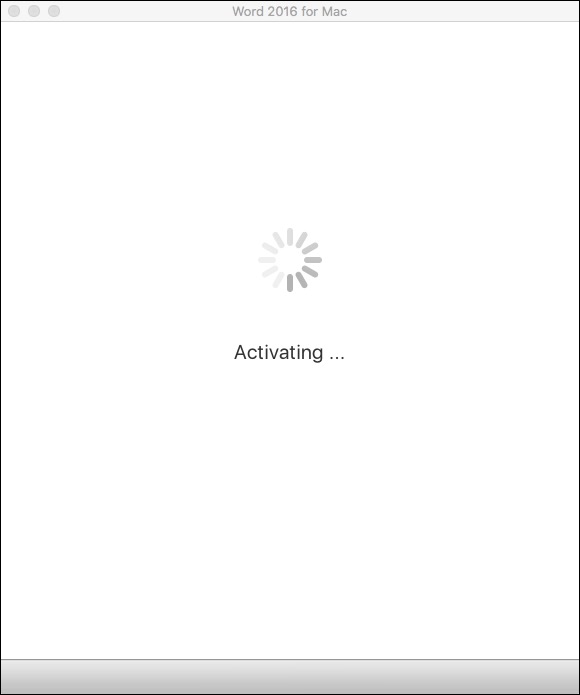 Microsoft Office 365 activating...