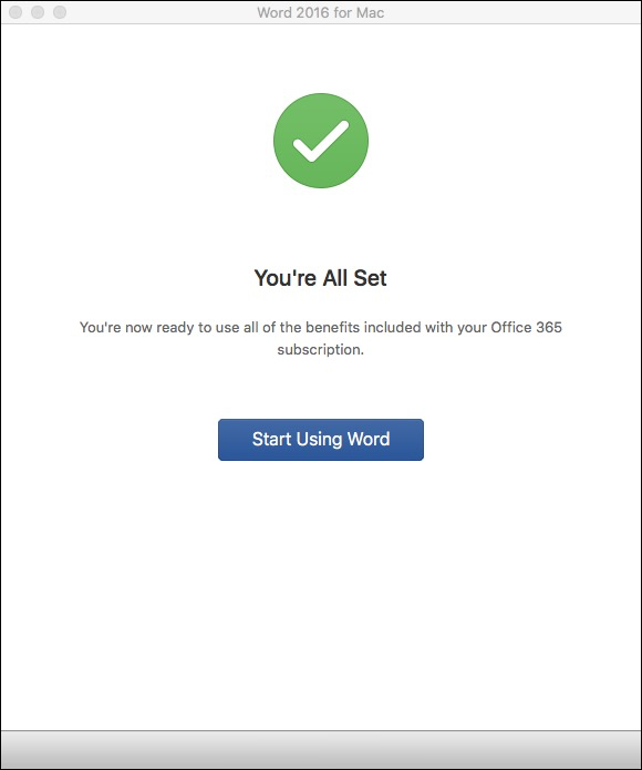 Office 365 Mac All Set!