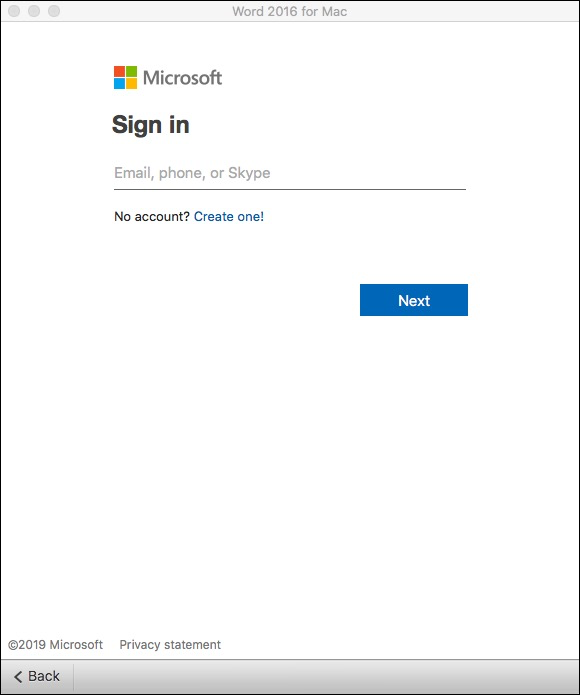 Signing in to Office 365. So far, so good!