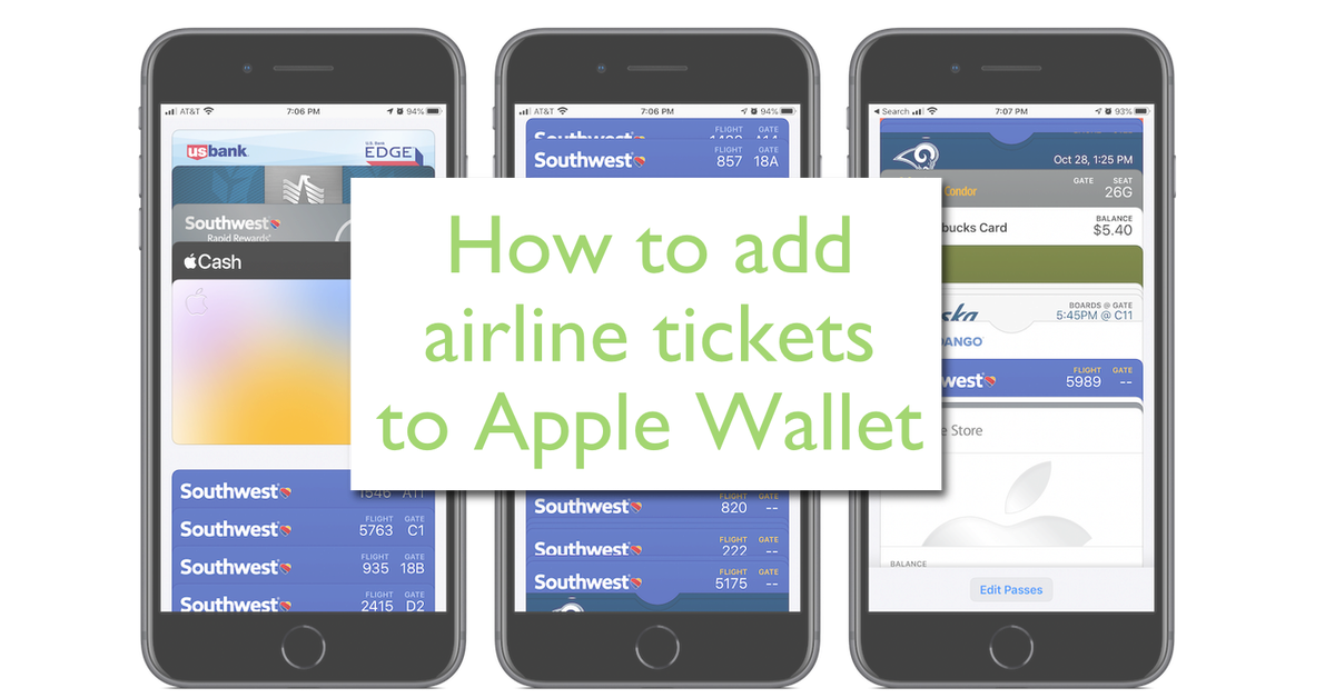 Add airline tickets to Apple Wallet