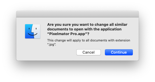 Are you sure you want to change all similar documents? Dialog box.