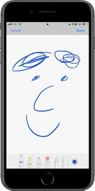 Sketching on the iPhone.