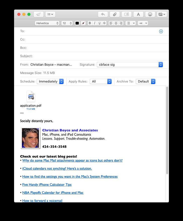 Attachment showing as icon (multi-page PDF)