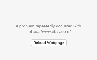A problem repeatedly occurred with https://www.ebay.com