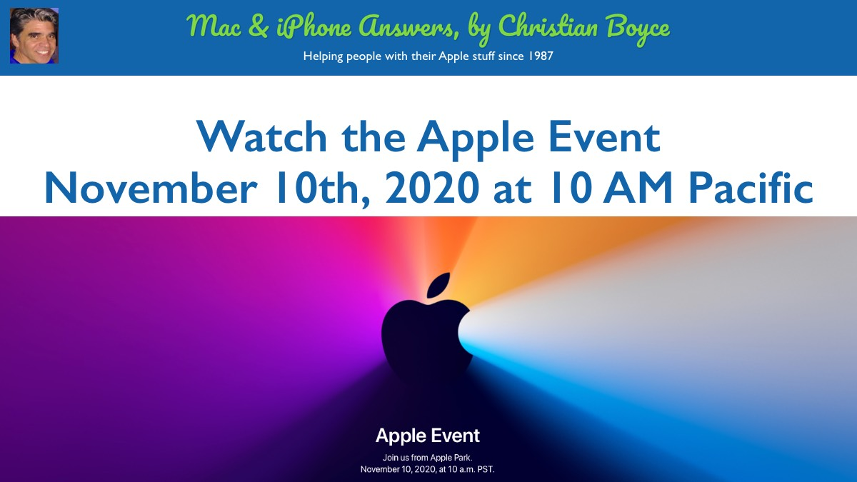 Another Apple Event November 10th 2020 10 Am Pacific Time By Christian Boyce